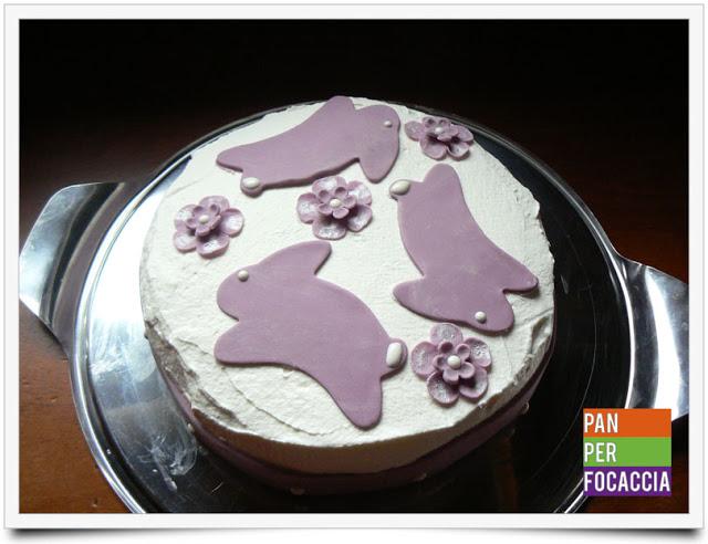 La torta dei coniglietti lilla