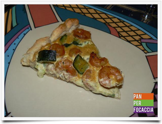 Torta salata con zucchine e gamberetti