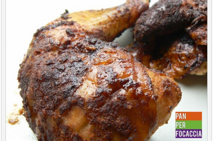 Pollo intero al barbecue: beer can chicken