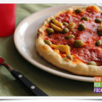 Pizza cotta nel barbecue