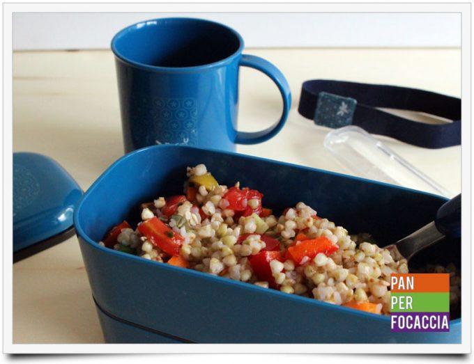 Insalata di grano saraceno e verdure 1