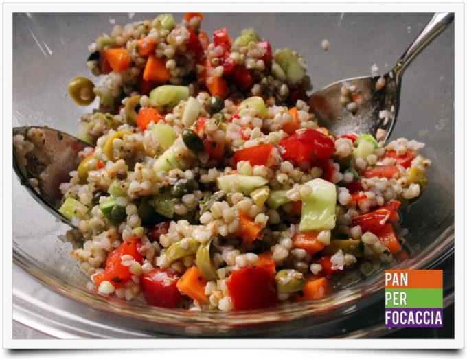 Insalata di grano saraceno e verdure 5