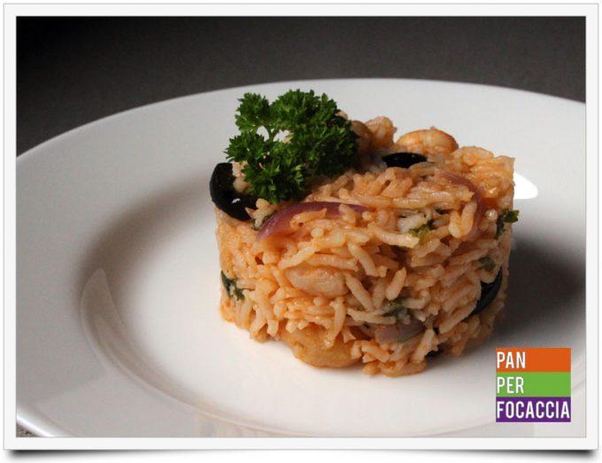 Riso pilaf con olive e gamberetti 6