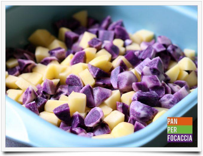 Patate viola e rosse spadellate 2