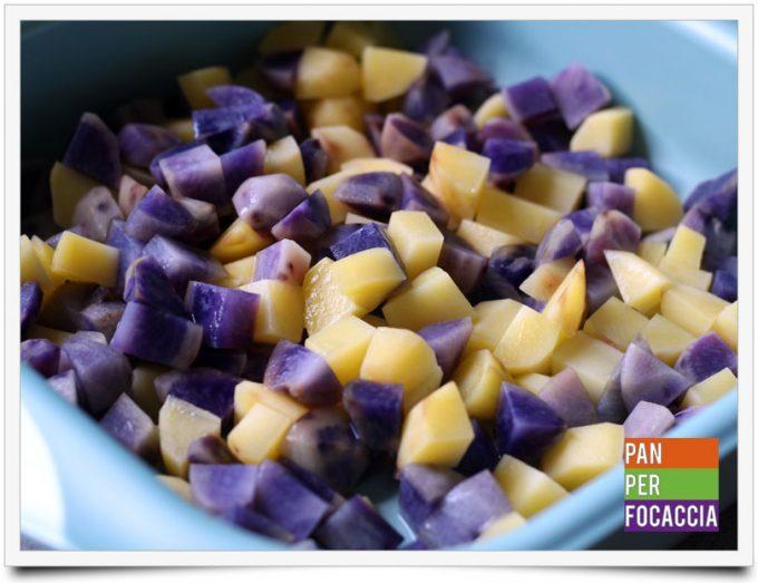 Patate viola e rosse spadellate 3