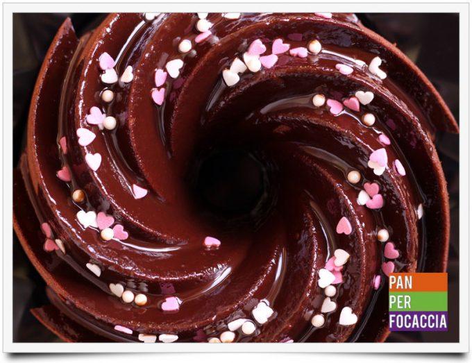 Chiffon cake al cioccolato per San Valentino