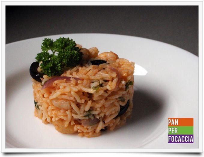 Riso pilaf con olive e gamberetti 1